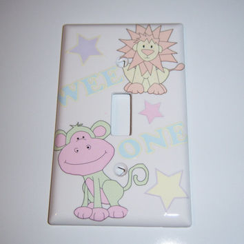 Wee One animal single light switch cover