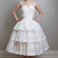 Fancy Bridal - Fiona - Retro Inspired Tea Length Wedding Dress