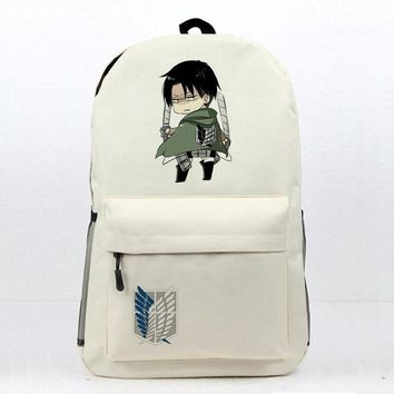 Cool Attack on Titan Anime  Laptop Backpack Daily Backpack Eren Mikasa Levi Printing Book Bag Womens Mens Teens School Backpack AT_90_11