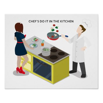 Chef In The Kitchen Poster