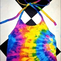 SWEET LORD O'MIGHTY! MARYJANE TIEDYE HALTER TOP