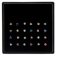 Women Star Nose Ring Bone Stud Body Piercing Jewelry 24Pcs Arrive Stainless Steel Crystal Nose Ring SM6