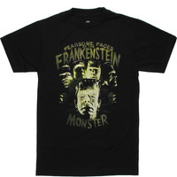 Mens Fearsome Faces Frankenstein T-shirt