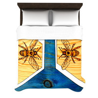 "Brittany Guarino ""Bees"" Woven Duvet Cover"
