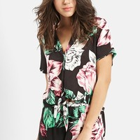 Women's KENDALL + KYLIE at Topshop Floral Print Shirt,