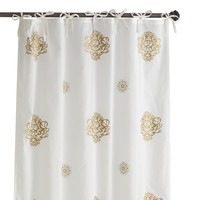Gilded Medallion Tie Top Curtain