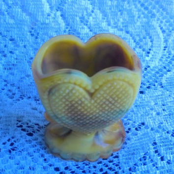 Heart Shape Glass Toothpick Holder by Boyd