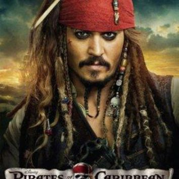 Pirates On Stranger Tides poster 11 inch x 17 inch Johnny Depp