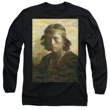 Portrait Of A Navajo Youth 1 - Long Sleeve T-Shirt