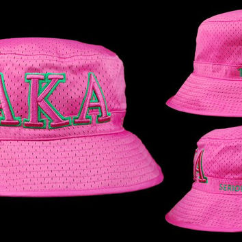 Alpha Kappa Alpha Bucket Hat (Hot Pink)