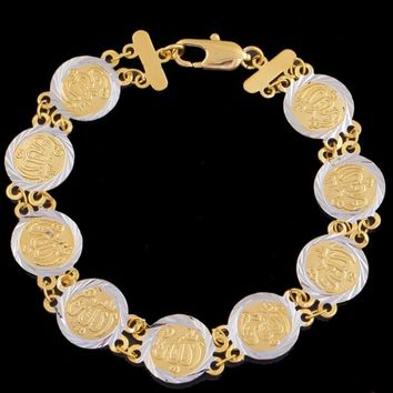 Ethnic Coins Bracelet for Women Islam Muslim Arab Coin Money Sign Gold Color Middle Eastern Jewelry Bangle Metal Coin Men Women