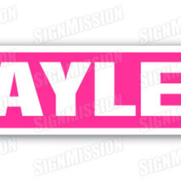 HAYLEE Street Sign name childrens room door gift kid child boy girl wall entry