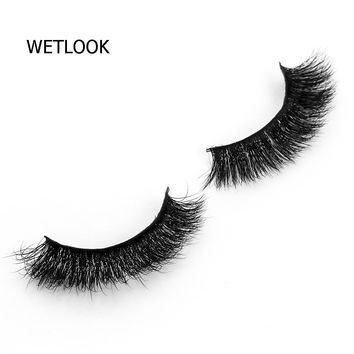 1 pair high quality 3D Handmade Thick Mink Eyelashes Natural False Eyelashes fake Eye Lashes Extension for Beauty Makeup  A08