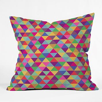 Bianca Green In Love With Triangles Throw Pillow