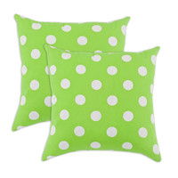 Breezy Polka Dot Lime Indoor-Outdoor Accent 17 inch Throw Pillows (set of 2)