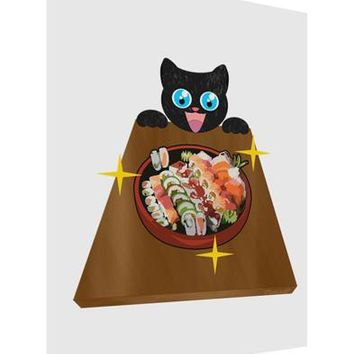 Anime Cat Loves Sushi Matte Poster Print Portrait - Choose Size by TooLoud