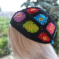 Flowers Multicolour cap / hat lovely summer spring