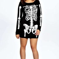 Gracie Skeleton Bodycon Dress