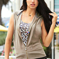 Fleece Sleeveless Hoodie - Supermodel Essentials - Victoria's Secret