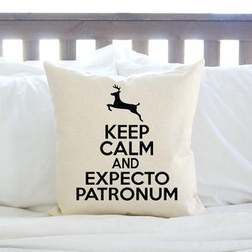 Keep Calm and Expecto Patronum Harry Potter Pillow