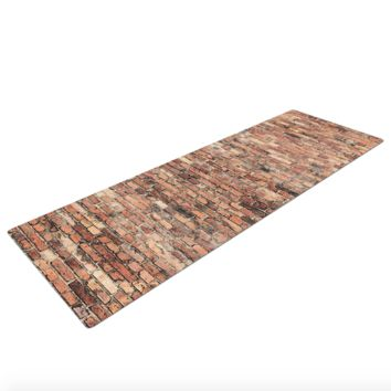 Brick Attack Wall Print Yoga Mat