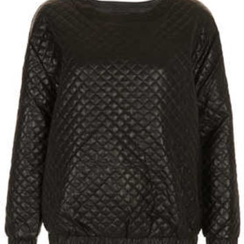 Quilted Leather-look sweater - New In This Week  - New In