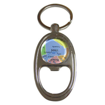 Mali Map Bottle Opener Key Chain