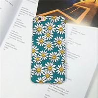 Beautiful Flowers Daisy Plants Smiley Face Phone Case Cover For iPhone 5 5s 6 6s 6 Plus 6s Plus