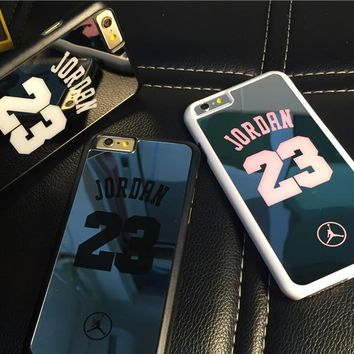 NBA brand Michael Jordan 23 fundas PC hard mirror Phone Cases for iPhone 5 5s 6 6 puls