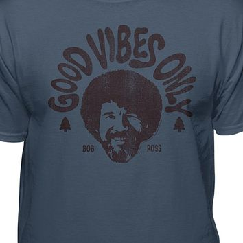 Bob Ross Good Vibes Only Official T-Shirt