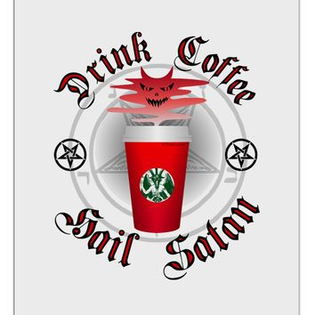 Red Cup Drink Coffee Hail Satan Aluminum Dry Erase Board by TooLoud