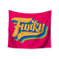 "Roberlan ""Funky"" Pink Orange Wall Tapestry"