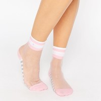 Stance x Rihanna Mesh Ankle Sock with Contrast Pink