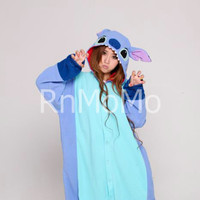 KIGURUMI Cosplay Romper Charactor animal Hooded PJS Pajamas Pyjamas Xmas gift Adult lilo  Costume sloth  outfit Sleepwear stitch