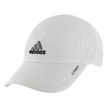 adidas Men's Adizero Cap, White/Black/Sharp Grey, One Size Fits All