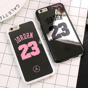 NBA brand Michael Jordan 23 Case For iPhone 6 6 Plus 5 5s SE Hard Mirror Phone Case Co