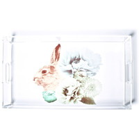 Imm Living Pastel Pastiche Rabbit Tray Clear One