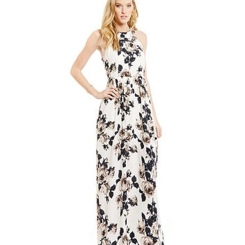 Sugarlips Floral-Print Maxi Dress | Dillards