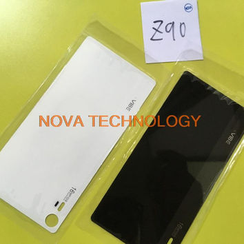 Z 90 Battery Door With Sticker For Lenovo Vibe Shot Z90 Back Glass Cover Housing Case White/Black ; With Tracking Number
