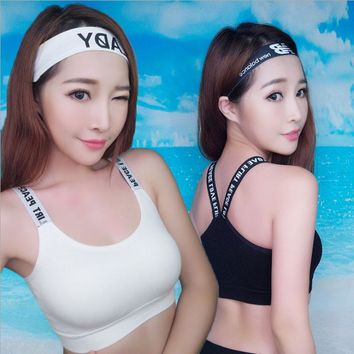 Young Female Fashion Girls Cotton Soft Yoga Bra Sports Vest  Underwear Training Bras Teenage Female Fitness Clothes Undergarment