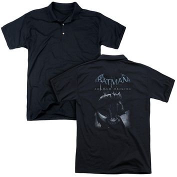 Batman Arkham Origins - Perched Cat (Back Print) Mens Regular Fit Polo