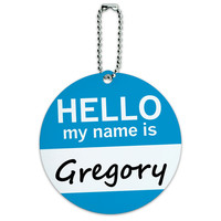 Gregory Hello My Name Is Round ID Card Luggage Tag