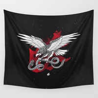 Eagle vs Snake Wall Tapestry by lostanaw