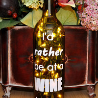 Wine Bottle Lamp Wine Tasting  Recycled  Home Decor by TipsyGLOWs