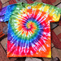 Youth Rainbow Swirl Tie Dye T-shirt - Made To Order - XS, S, M, L