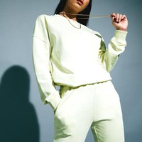 Missguided - Lime Oversized Sweater Dress
