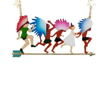 N2 by Les Néréides FLY WITH ME PETER, WENDY AND INDIAN SHORT NECKLACE