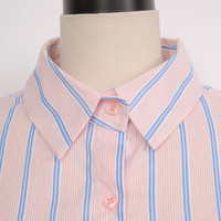 Loose Fit Striped Button-Down Shirt