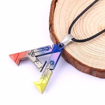 HSIC JEWELRY Anime Vintage Jewelry ARK Survival Evolved Holders Necklace Porte Clef Marque Letter Necklace For Men HC11305