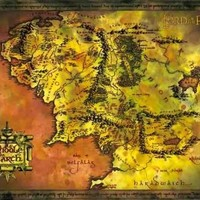 Lord of the Rings (Map of Middle Earth) Art Poster Print